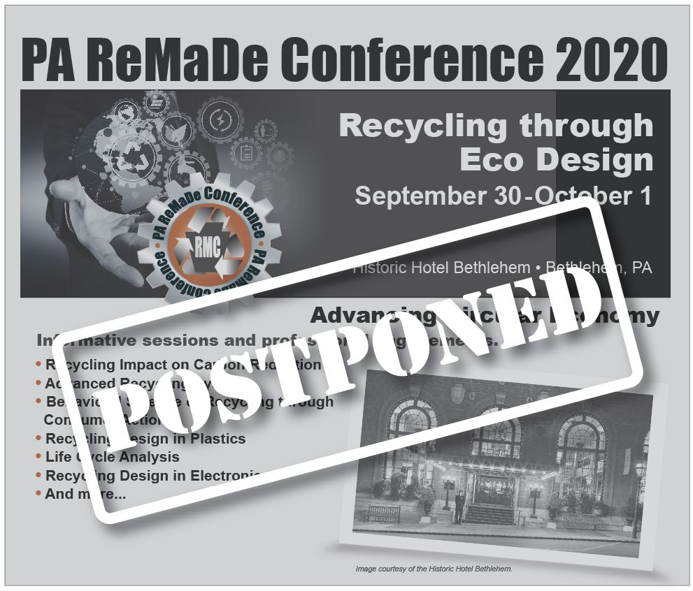 PA ReMaDe Conference 2020 Postponed